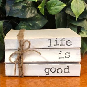 3 farmhouse inspired books stamped life is good